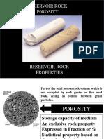 Lecture-1 Reservoir Rock Porosity