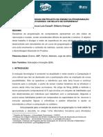 APRENDIZAGEM BASEADA EM PROJETO NO ENSINO DA PROGRAMAÇÃO DE COMPUTADORES