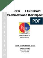 Interior Landscape DISSERTATION