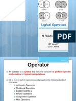 Logical Operators Group