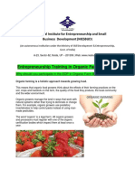 Entrepreneurship Training Organic Farming 24 June 2018