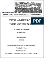 The American Bee Journal, Volume XXXIII, No. 4, January 25, 1894 by Various