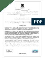 Decreto Excentos Pico y Placa