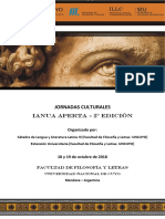 Circular Jornadas Culturales IANUA APERTA-2° Edición