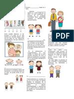 Ficha Etapas Del Desarrollo Humano Para Cuarto de Primaria
