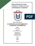 Registro Del Testamento y sus Clases