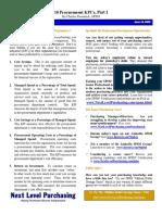 Articulo - 10 Procurement KPIs, Part I y II - 2009.pdf