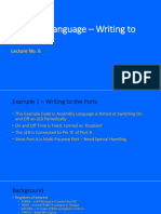 Lecture 06 -Assembly Language Code Example for Ports Writing