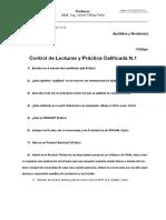Control de Lecturas y Práctica Calificada N1