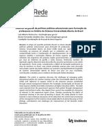 Desafios da gestão de políticas públicas educacionais para formação de professores no âmbito do Sistema Universidade Aberta do Brasil