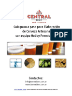 Guia paso a paso elaboración de Cerveza Artesanal
