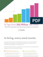 8 Tips From 350 Million Job Posts