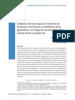 Didáctica de La Lengua, Formación de Lectores y Escritores Gramatica