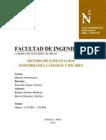 Metodo Camaras y Pilares