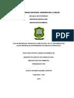 USO DE MATERIALES ORGÁNICOS PARA EL TRATAMIENTO DE AGUAS RESIDUALES PROVENIENTES DE GRANJAS PORCINAS