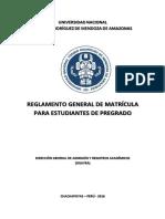 Reglamento General de Matricula 2016