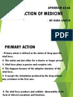 action of medicine