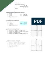 Calcular El Dominio de La Función Racional