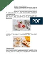5 Desayunos Saludables Para Mañanas Atareadas