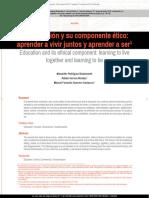 La educación y su componente ético