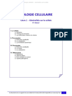 UE2 Bio Cell-Cours 1 - Generalites Sur La Cellule Tutorat 2014-2015