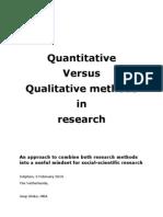 Quantitative vs Qualitative Methods