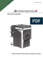Bizhub c353 c253 c203 Fe3 1-0-0 Trademarks Copyrights