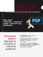 Logical fallacies (elements of arguments for public speaking)