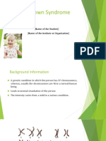 Down Syndrome PPT