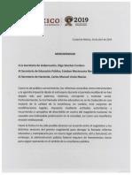 AMLO Memorándum Segob, SEP, SHCP, 16abr19 (2)