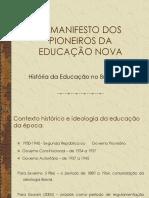 O_Manifesto Dos Pioneiros