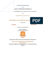 Brain computer interface Technical Seminar Report