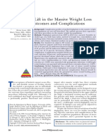 Medial Thigh Lift in the Massive Weight Loss Population- Outcomes and Complications