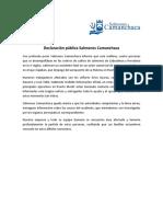 Declaración pública Salmones Camanchaca_