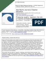 Producing Quality Teachers