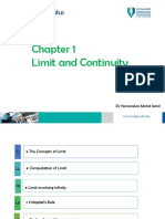 Chapter 1 Limit and Continuity