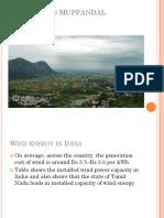 Case Study of Muppandal Windfarm