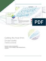 EPG Social Media Training - Plan and Presentation