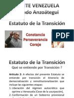 LA RUTA DE LA TRANSICION