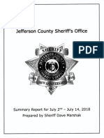 Jefferson County Sheriff Summary Report on DeSoto MO Police Dept July 2018