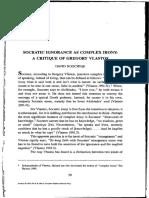 Roochnik, Socratic ignorance as complex irony.pdf