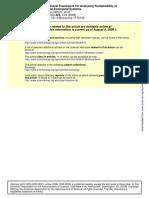 Ostrom (2009) General Framework for Analyzing SES (1)