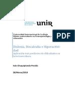 Ivan Chuquipiondo Peralta Actividad 1 Dislexia Discalculia 2019