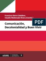 Libro Comunicación,Decolonialidad y Buen Vivir.