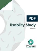 Usability Study PVDonuts
