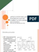 Aplicacion de Las Tolerancias de Fabricacion Dimensiones