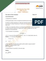Cbse Class 10 Mathematics Solved Question Paper 2018