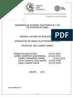 práctica Atenuación de ondas electromagnéticas
