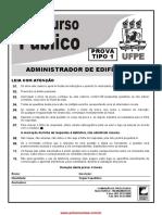 Prova Administrador de Edifícios UFPE