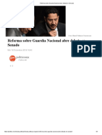 Reforma Sobre Guardia Nacional Abre Debate en Senado